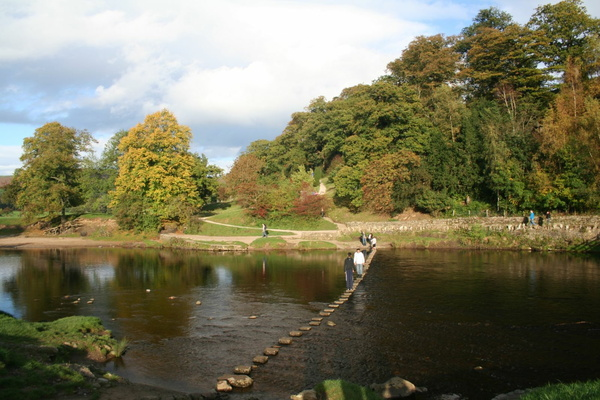 Stepping stones on the River Wharfe
