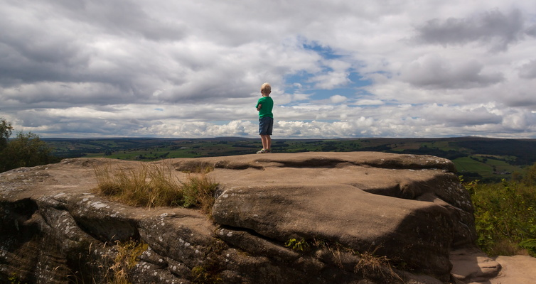 Callum looks at the view