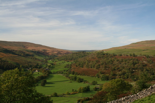 Valley of the River Wharfe above Buckden