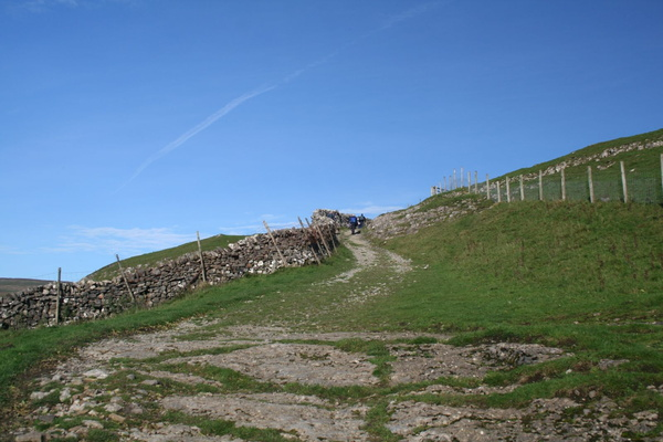 The path up from Buckden