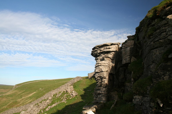 On the side of Buckden Pike