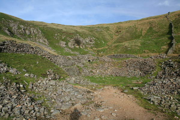 Old quarry works at top of Buckden Beck