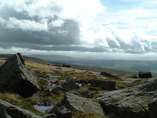 View from Great Whernside summit