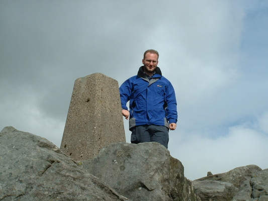 Maurice on Great Whernside summit