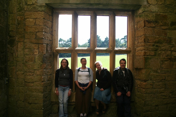 Becky, Heidi, Rach and Chris at Belsay Castle
