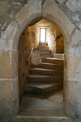Staircase at Belsay Castle