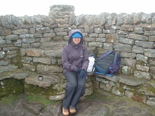 Heidi on Ingleborough summit