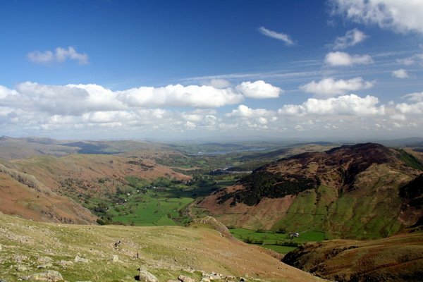 View of Great Langdale over Pike How