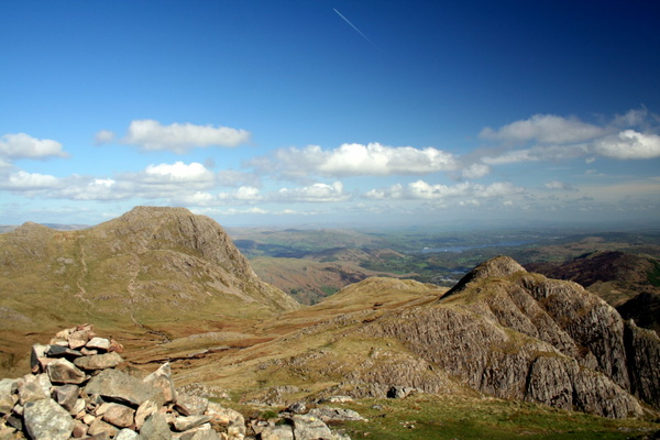Harrison Stickle and Loft Crag from Pike of Stickle