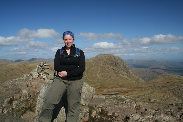 Heidi on Pike of Stickle