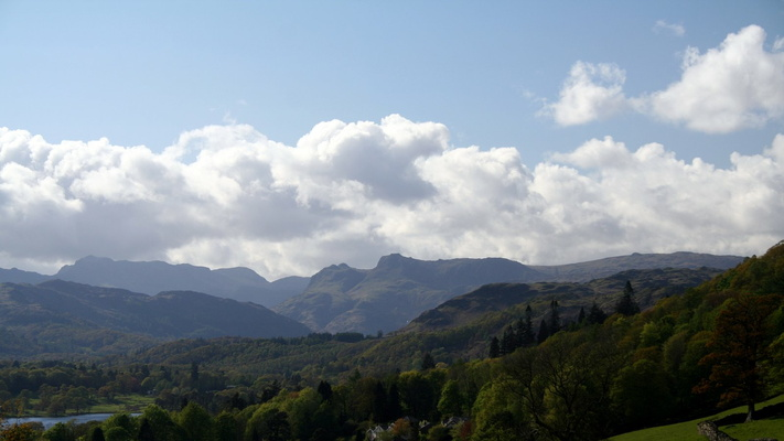 Langdale Pikes from Holbeck Ghyll