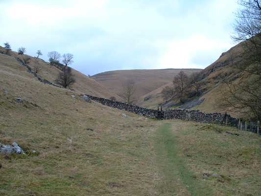 Looking uphill from Kettlewell