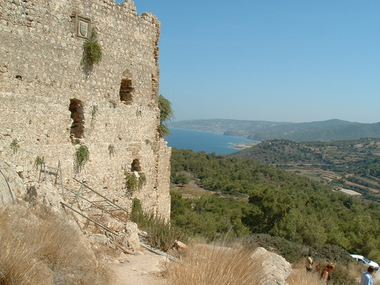 Monolithos crusader castle, only the bits from 1500 still standing