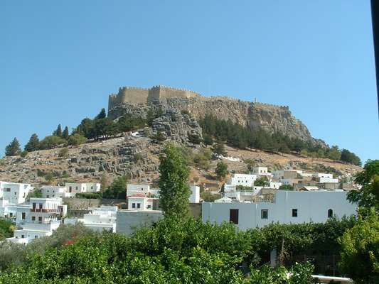 The castle and acropolis of Lindos