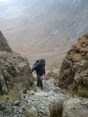 Richard with view down into Cwm Idwal
