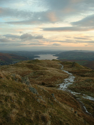 Looking back down on Windermere from Lord Crag